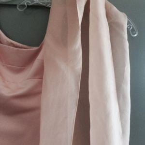 Accessories - Sheer Light Pink Polyester Shawl